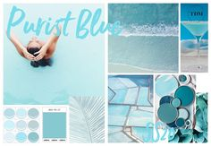 Purist Blue Color Trend 2020 – Diet and Slimming Teal Blue Color, Blue Colour Palette, Color Palettes, Spring Summer, Warm Spring, Soft Summer, Summer 2015, Lingerie, Mellow Yellow