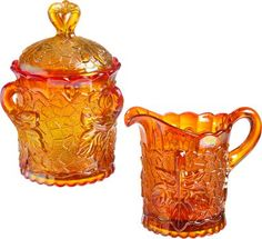 Cream and Sugar Set by Mosser Glass | Vermont Country Store