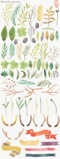 Wild Watercolor DIY by Julia Dreams on Creative Market
