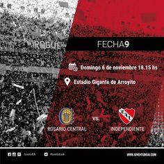 HOY INDEPENDIENTE  #Independiente y Rosario Central se enfrentan por la fecha 9 del torneo de Primera División.