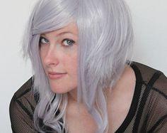 40 % OFF Purple Gray Lavender - Visual Kei - short wavy curly wig - High quality - Kanekalon Synthetic fibers - Natural Effect Grey Wig, Santa Suits, Short Wavy, Purple Gray, Curly Wigs, Synthetic Wigs, Grey Fashion, Visual Kei, Perfect Fit