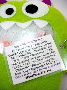 Green Monster I Spy Bag