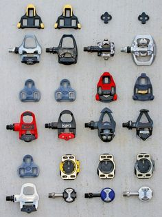 pedals and cleats. Upper left or lower right if you have knee issues.