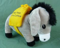 Bad Ass Kona Estate Of Hawaii Coffee Mule Donkey Plush Stuffed Animal Cutro Toy  #Cutro