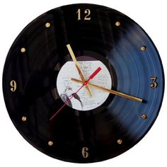 """PINK FLOYD Vinyl Record Clock (The Wall) – A cool """"Unusual"""" original Pink Floyd """"The Wall"""" LP vinyl record album wall clock. Battery operated, ready to tick and rock in any man-cave home. Sure to be a conversation piece. #mancave #pinkfloyd #thewall"""