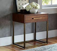 "Fitz Bedside Table #potterybarn $299 26"" wide x 18"" deep x 28"" high"