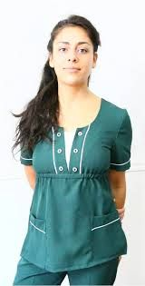 Resultado de imagen para uniformes maestras Scrubs Outfit, Scrubs Uniform, Scrubs Pattern, Cute Scrubs, Uniform Design, Lolita Dress, Work Attire, Sewing Clothes, Maternity Fashion