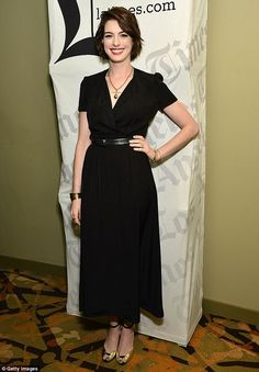 Anne Hathaway wore an understated ensemble for her appearance at a Los Angeles screening of her new film, Song One, on Tuesday afternoon
