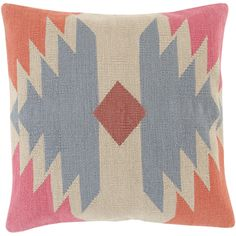 Take trend to the next level in your space with a splash of striking tribal design. Hand made in India, the combination of pinks, blues and smooth beiges found within this masterfully crafted piece flawlessly embodies a sense of warm, inviting, and classic comfort from room to room within any...