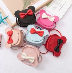 2019 Girl Coin Purse Handbag Children Wallet Small Coin Box Bag Cute Mouse Bow Kid Money Bag Baby Shoulder Bag Purse brand new Size:as the picture show Color: as the picture show Little Girl Gifts, Little Girls, Toddler Bag, Crochet Toddler, Cute Mouse, Black Leather Handbags, Leather Bags, Leather Jewelry, Girls Bags