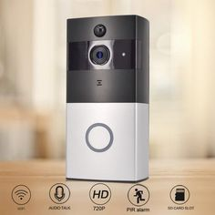 CTVMAN PIR Doorphone Camera Battery Wireless Doorbell with Camera Wifi Door Bell Intercom HD Doors Intercoms. Wi Fi, Mobile Gadgets, Camera Accessories, Sd Card, Cool Gadgets, Apple Tv, Digital Camera, Bellini, Remote