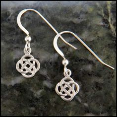 Josephine's Knot, or the Lover's Knot Sterling Silver Celtic Knot earrings.