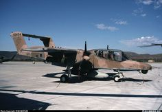 One of VMO-2's Broncos in a rare Desert Storm camouflage