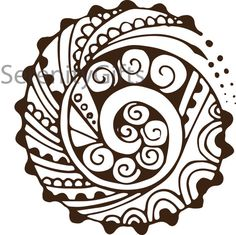Spiral Mehndi Henna Design For Tattoo Or Graphic Art Vector Download