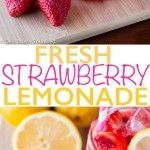 Ingredients:   1 cup granulated sugar 1 cup water 2 cups fresh strawberries, hulled and sliced 1 1/2 cups fresh lemon juice (about 6 medium lemons) 6 cups cold water ice 1 cup strawberries, chopped for topping lemon slice, for garnish Directions: STEP 1: In a small sauce pan, bring sugar and water to a boil. …
