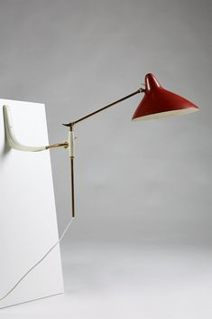 Wall lamp, anonymous, Denmark. 1950's. — Modernity
