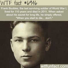 The last surviving soldier from WW1 - WTF fun fact