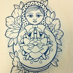 Finally found a great Matryoshka doll (Russian doll) design. Can someone put colour on for me?? - Imgur