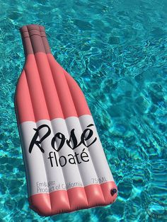 Wine and champagne Bottle Pool Floats - Move over unicorns, we just discovered a new breed of inflatables. Wine bottle pool floats are here Summer Feeling, Summer Vibes, Floats For Pool, Lake Floats, Summer Of Love, Summer Fun, Pink Summer, Beach Pink, Kissing Booth
