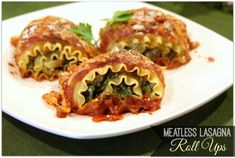 Meatless Lasagna Roll Ups - No Meat? No Problem! 3 Easy Meatless Dinner Recipes | @Work It, Mom! - Inside Mom's Kitchen