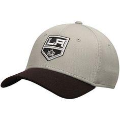 37cb98ddbfd61 Los Angeles Kings Lombard Stretch Fit Flex Hat - Gray Black