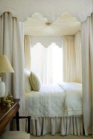 Luscious bedrooms - mylusciouslife.com - canopy - love the curtained alcove - very cozy!