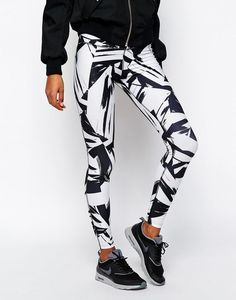 Image 4 of Nike Big Print Leggings: