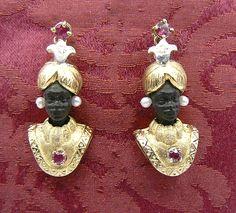Blackamoor earrings Dogale jewellery Venice Italia