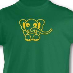 Kinder T-Shirt Elefant. T-Shirt 'Elefant', kurze Arme, Flexdruck