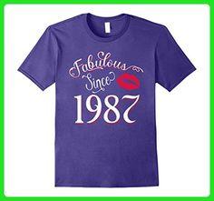 Mens Fabulous Since 1987 Funny 30th Birthday T-Shirt Small Purple - Birthday shirts (*Amazon Partner-Link)