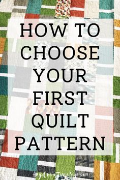 The start of any new hobby can be overwhelming, even selecting your first quilt pattern! I've made a quick list of what to look for in your first quilt pattern, and a few things to avoid too. Beginner Quilt Patterns, Quilting For Beginners, Quilting Patterns, Quilting Tutorials, Easy Quilts, Mini Quilts, Youtube Quilting, Handmade Quilts For Sale, Traditional Quilt Patterns