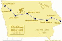 Ragbrai 2012! Record breaking temps, many days over 100! I only saw 3 dead cows that year.