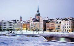 Stockholm in winter, so beautiful.