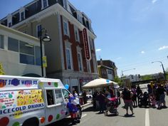A beautiful day in town with plenty of food and vendors