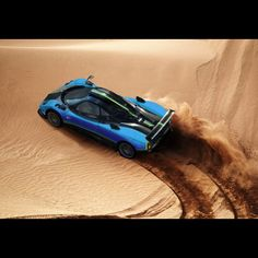 Awesome! A Zonda playing in the sand