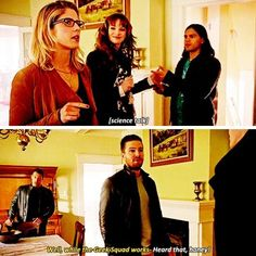 We need more of this the geek squad . . #Olicity #arrow #greenarrow #oliverqueen #felicitysmoak