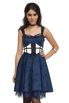 """… this lace-up dress, starting at $79.50… 