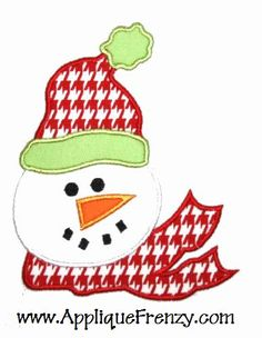 adorable snowman. love the houndstooth.