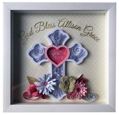Baptism, Confirmation, First Communion Custom Quilled Paper Art
