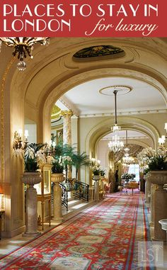 Places to stay in London, UK - from high-end like The Ritz, to affordable luxury accommodation.