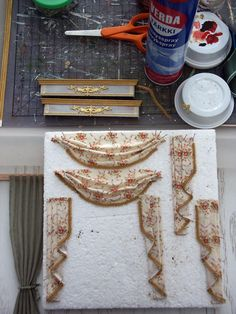 Syreenikuja - dollhouses and miniatures: the curtains making / Making Curtains