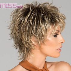 Women Short Wigs 2019 Flaxen Wave Curly Tousled Synthetic Wigs - coke - Image Sharing WorldPixie Short Choppy Hairstyles Over 50 short hairstylesUnique Short Hairstyles With Bangs For Thick Hair Short Hairstyles For Black Women Over 50 Shorter Short Choppy Hair, Short Hairstyles For Thick Hair, Short Pixie Haircuts, Short Hair With Layers, Bob Hairstyles, Curly Hair Styles, Classy Hairstyles, Messy Pixie Haircut, Choppy Layers