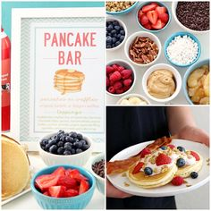 How to Host a BreakFEAST Pancake Bar It's easy to host your own Pancake Bar! It's a great idea for weekend brunches, special occasions, or anytime you want a fuss-free meal! Pancake Bar, Pancake Toppings, Christmas Pancakes, Christmas Brunch, Pancakes And Pajamas, Breakfast Pancakes, Breakfast Platter, Birthday Brunch, 13th Birthday