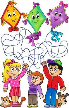 Worksheets For Kids, Views Album, Kindergarten, Activities, Comics, Children, Kites, Coloring, Outdoor