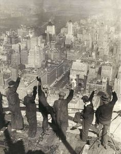 The Chrysler Building under construction, New York, 1929