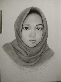 Finish pesanan lukisan wajah dari bekasi  by http://lukiswajah.com  #jasalukiswajah #jasalukisanwajah #jasasketsawajah #gambarwajah #art #drawings #sketsawajah #illustration #women #hijab #girl #young #eye #face
