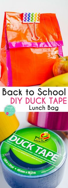 Show your style with this Back to School DIY Duck Tape Lunch Bag. Create a fun way to take lunch to school with this craft tutorial. (ad) #DucktoSchool https://ooh.li/4f0ee23