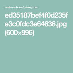 ed35187bef4f0d235fe3c0fdc3e64636.jpg (600×996)