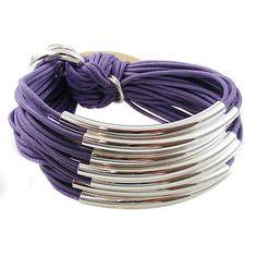Multi Tube Bracelet Silver, Lilac, Gillian Julius $275