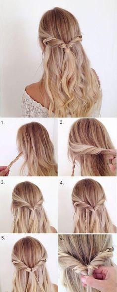 einfache-frisuren-lange-blonde-lockige-haare-haarfrisur-selber-machen-frauen easy-hairstyles-long-blond-curly-hair-hair hairstyle-yourself-making women Simple Wedding Hairstyles, Trendy Hairstyles, Girl Hairstyles, Simple Hairdos, Greek Hairstyles, Church Hairstyles, Festival Hairstyles, Simple Curly Hairstyles, Simple Hairstyles For School